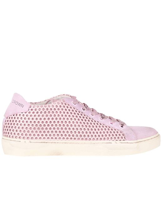 Leather Crown - Pink Sneakers Women - Lyst