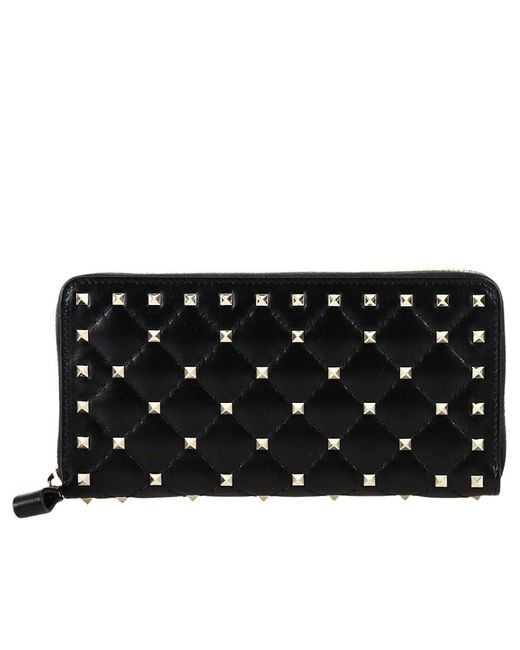 Valentino | Black Wallet Women | Lyst