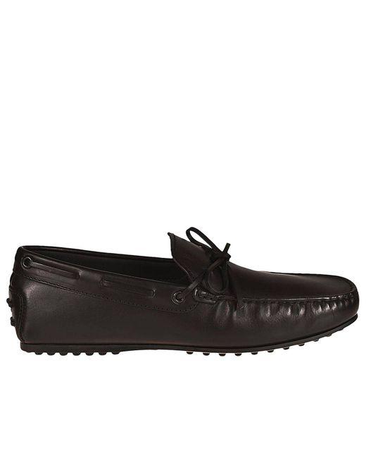 Tod's - Black Loafers Men for Men - Lyst