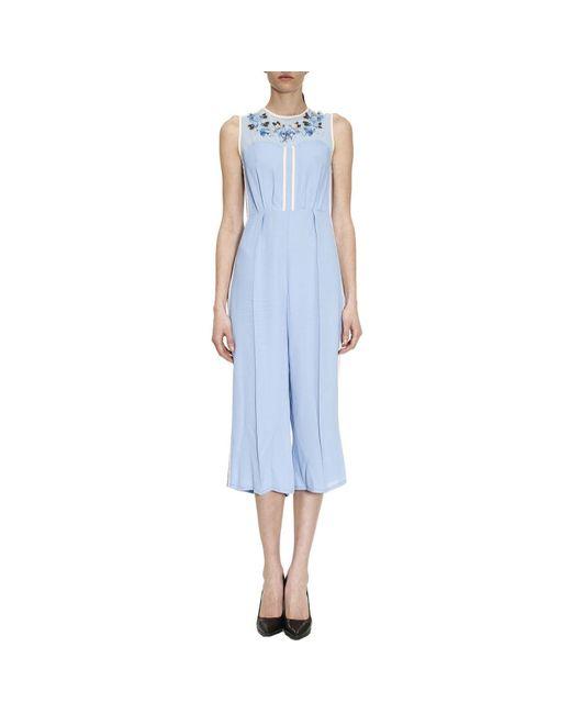Elisabetta Franchi - Blue Dress Women - Lyst