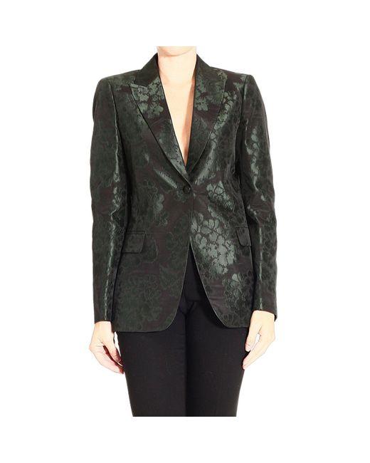 Gucci | Green Floral-Jacquard Suit Jacket | Lyst