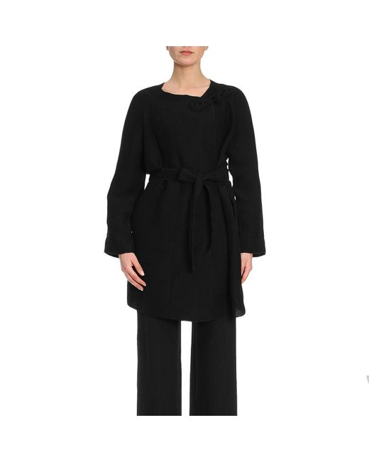 Emporio Armani - Black Coat Women - Lyst