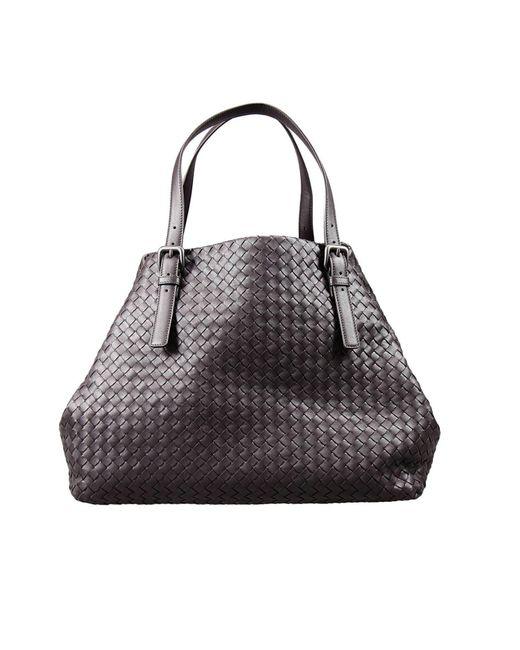 Bottega Veneta | Brown Intrecciato Double Chain Tote Bag | Lyst