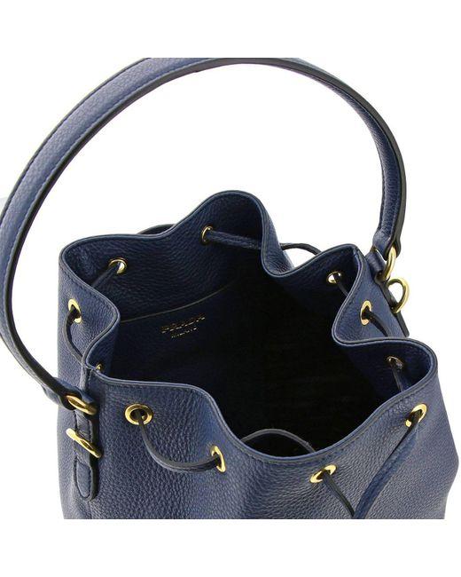 b68f0bb9c489 ... Prada - Blue Mini Bag Shoulder Bag Women - Lyst