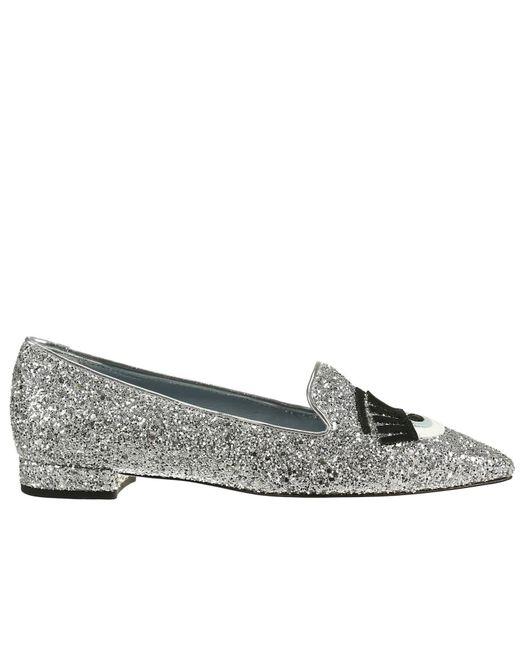 Chiara Ferragni   Metallic Flirting Glitter Loafers   Lyst