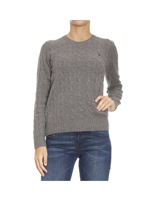 Polo Ralph Lauren | Gray Sweater Woman | Lyst