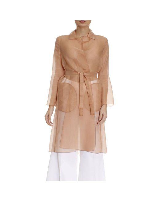 Max Mara   Natural Coat Women   Lyst