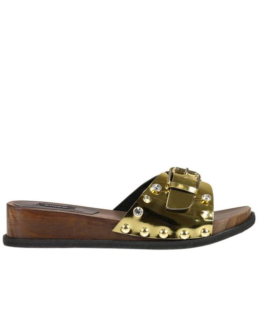 Pinko | Metallic Flat Sandals Shoes Women | Lyst