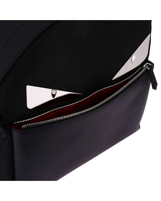 450bc68fec00 Fendi Black  bag Bugs  Backpack in Black for Men - Save ...