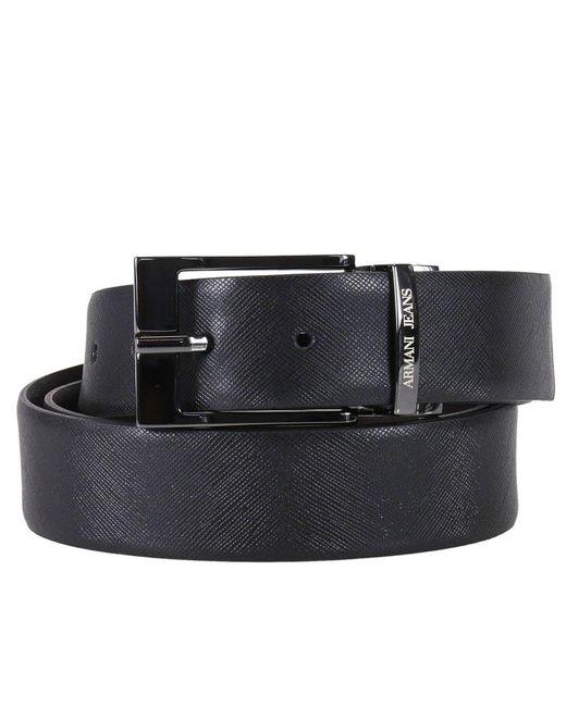Armani Jeans | Black Belt Men for Men | Lyst