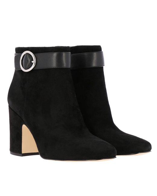 6e1d0c32adf2f ... MICHAEL Michael Kors - Black Alana Suede Heeled Ankle Boots - Lyst ...