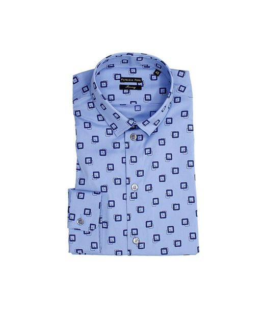 Patrizia Pepe - Blue Men's Shirt for Men - Lyst