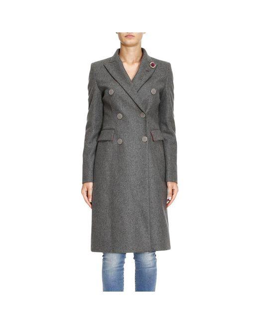 Pinko | Gray Coat Women | Lyst
