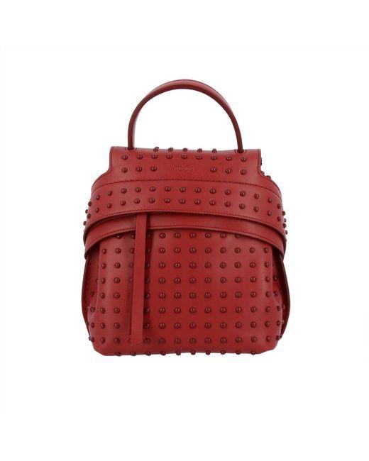 Tod's - Red Backpack Shoulder Bag Women - Lyst