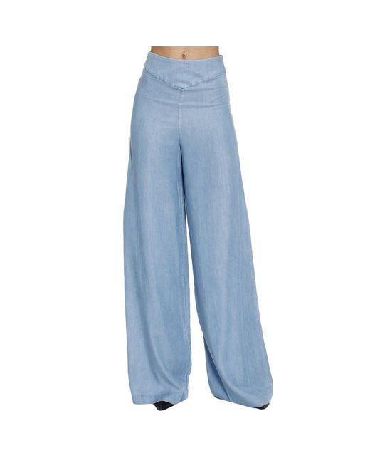 Armani Jeans   Blue Pants Trouser Women   Lyst