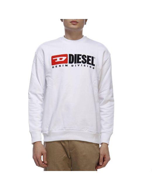 DIESEL - White Sweater Men for Men - Lyst