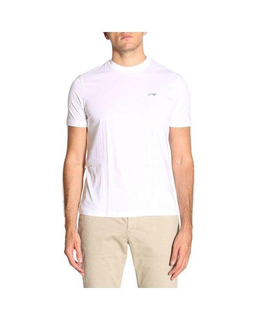 Armani Jeans | White T-shirt Men for Men | Lyst