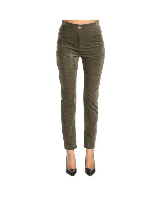 Balmain - Green Jeans Women - Lyst