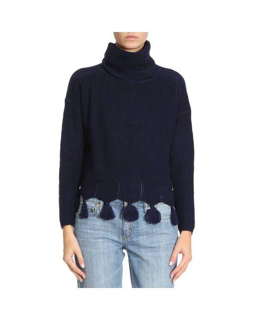 Patrizia Pepe | Blue Sweater Women | Lyst