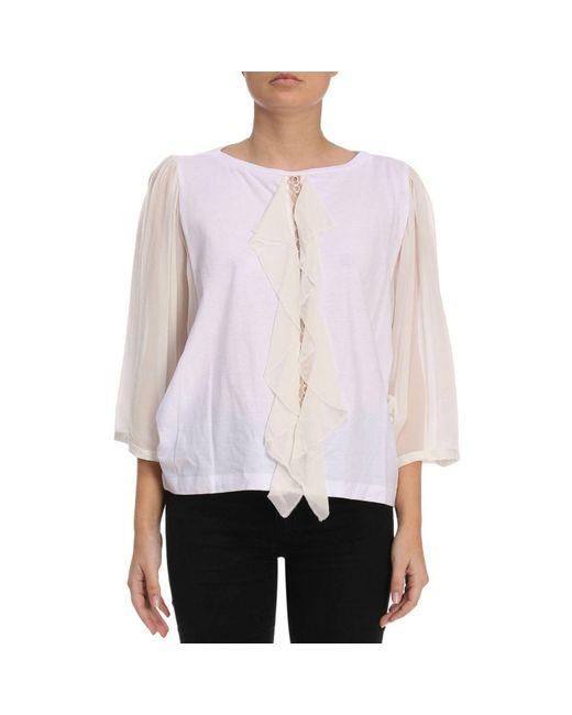 Twin Set - White T-shirt Women - Lyst