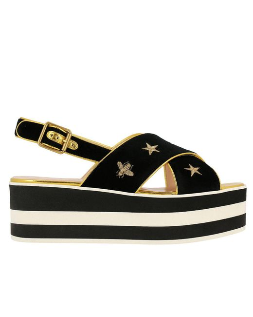 Gucci - Black Wedge Shoes Shoes Women - Lyst