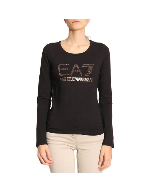 EA7 | Black T-shirt Women Ea7 | Lyst