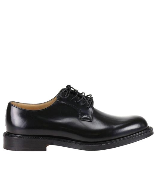 Church's - Black Shannon Derby Shoes Laced With Goodyear Processing for Men - Lyst