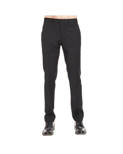 Armani | Black Pants Men for Men | Lyst