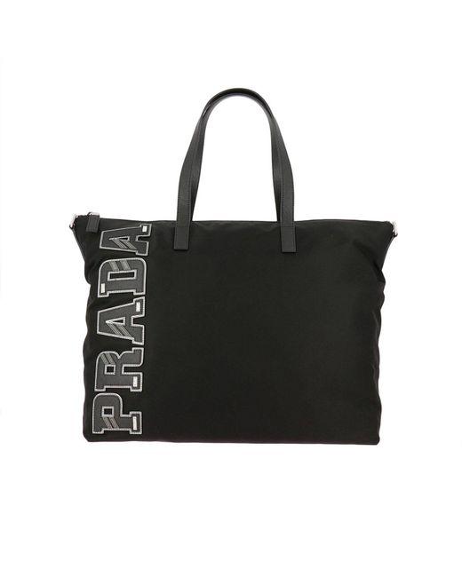 Prada - Black Bags Men for Men - Lyst