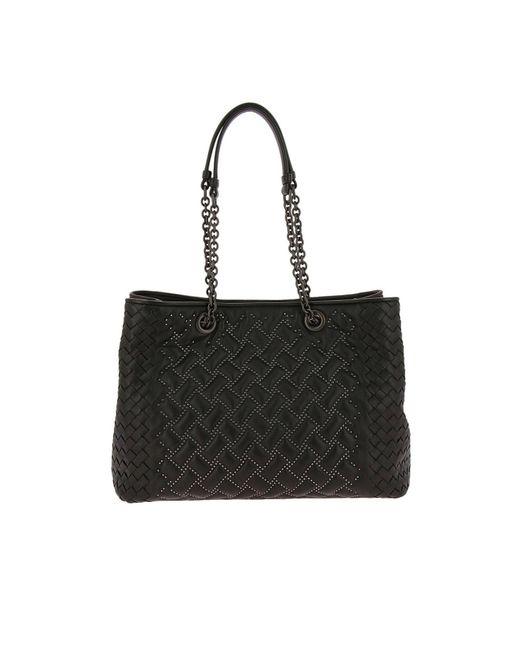Bottega Veneta - Black Shoulder Bag Women - Lyst ... fbe66ce8d4