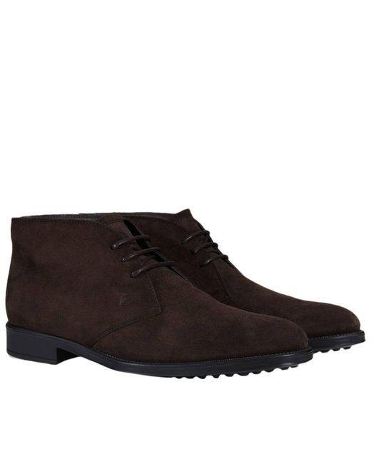 Tod's - Black Chukka Boots Men for Men - Lyst
