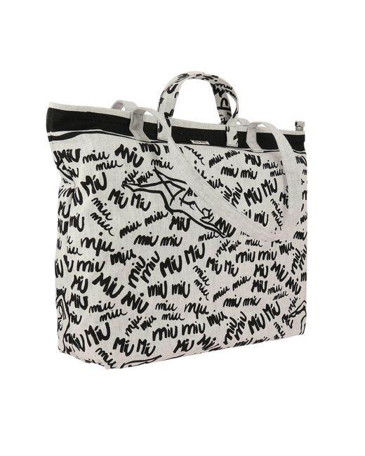 ... Miu Miu - White Shoulder Bag Women - Lyst ... 69666a8acf