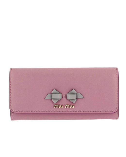 Miu Miu - Pink Wallet Women - Lyst
