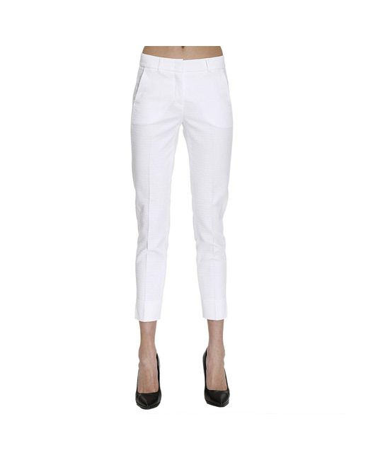 Peserico | White Pants Women | Lyst