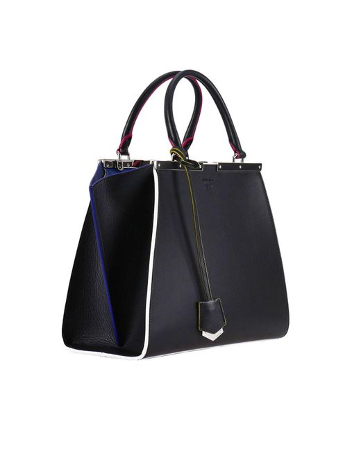 700f4711695e ... low cost fendi black handbag shoulder bag women lyst 5fa26 18dce ...