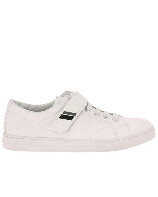 4bec782e3cd3 Gqqwcba Homme Pour Blanc Coloris Prada Baskets Chaussures Lyst En zvzqFS