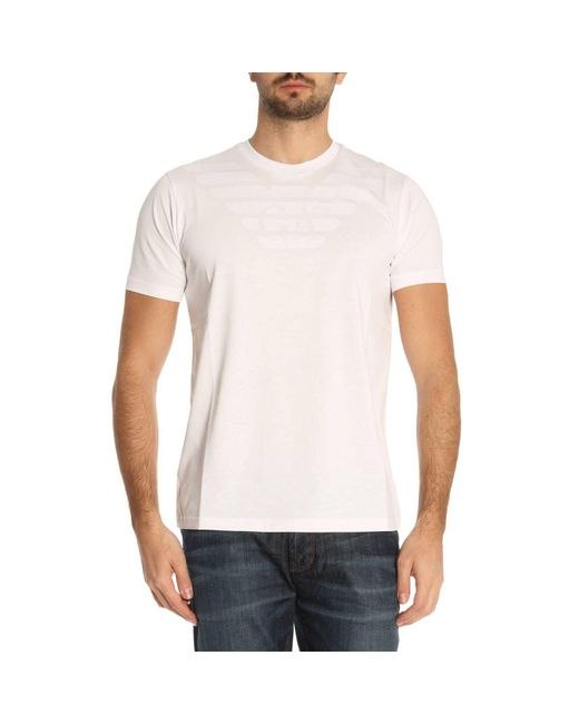 Emporio Armani - White T-shirt Men for Men - Lyst