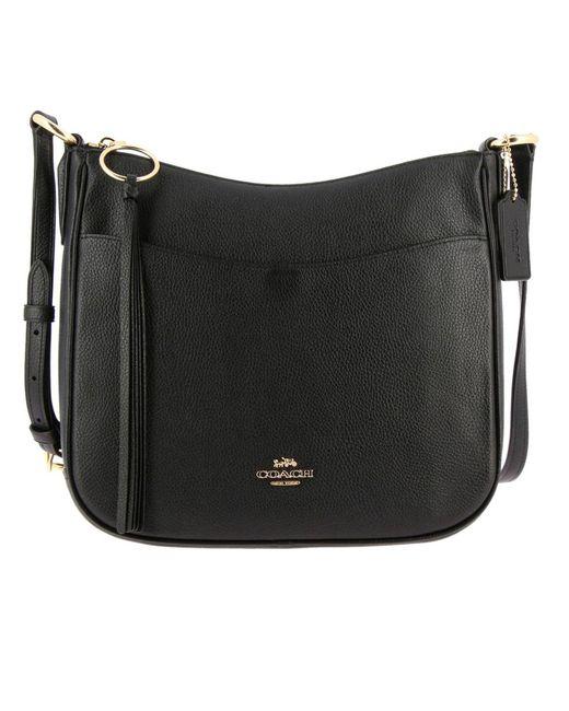COACH - Black Shoulder Bag Women - Lyst ... 22b612babf7e5