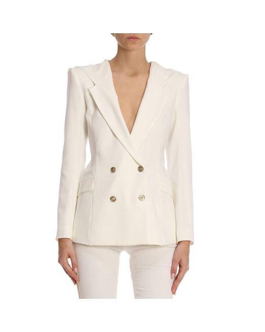 Patrizia Pepe - White Jacket Women - Lyst