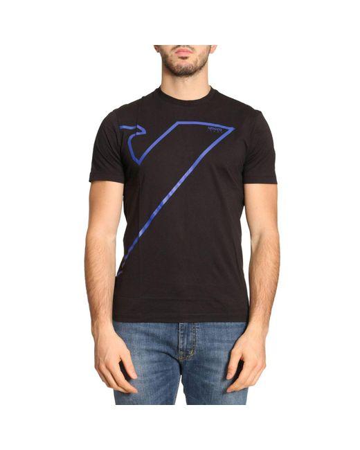 Armani Jeans | Black T-shirt Men for Men | Lyst