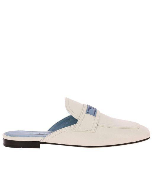 Prada - White Ballet Flats Shoes Women - Lyst