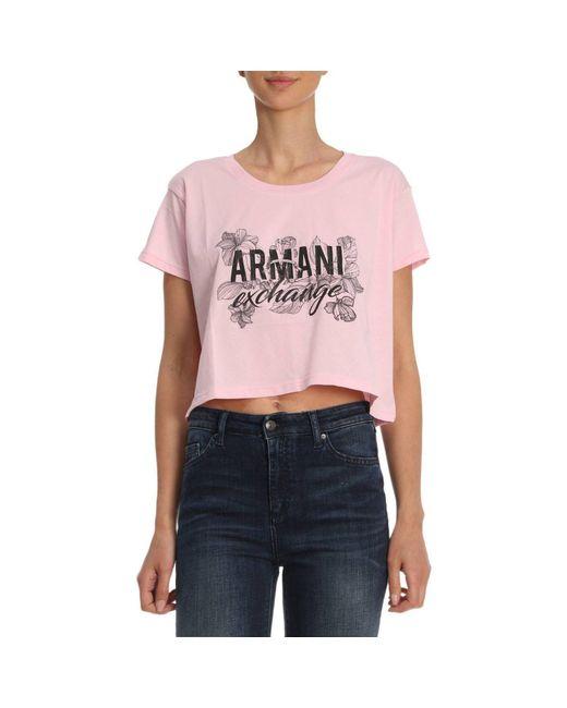 Armani Exchange - Pink T-shirt Women - Lyst