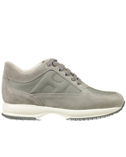 Hogan - Gray Sneakers Interactive Suede Canvas H Bombata for Men - Lyst