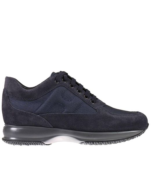 Hogan | Blue Sneakers Interactive Padded H Suede And Nylon for Men | Lyst