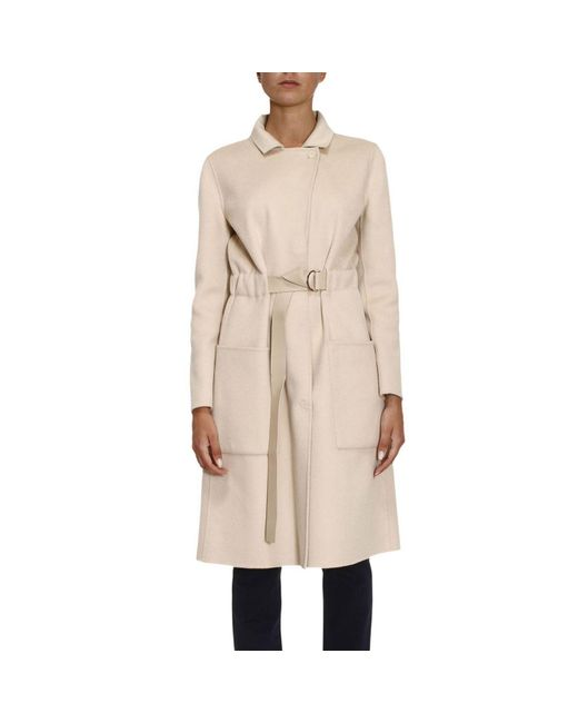 Emporio Armani | Natural Coat Women | Lyst