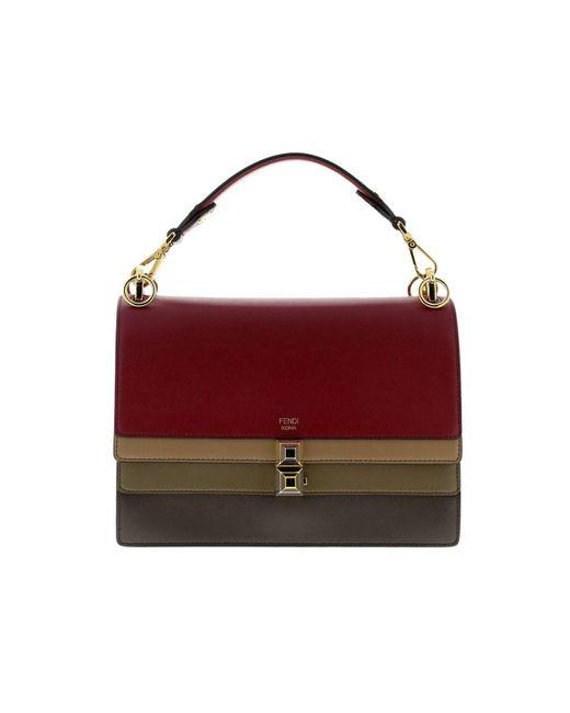 02d25099a072 Fendi - Red Handbag Shoulder Bag Women - Lyst ...