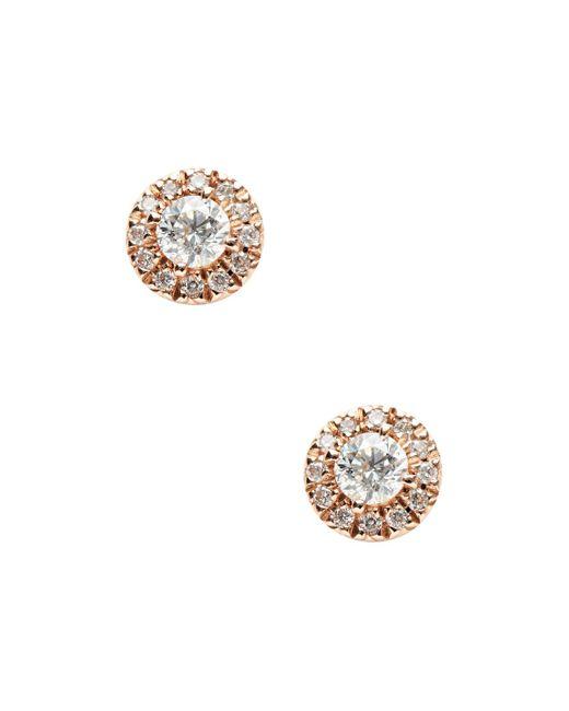Nephora - Metallic 14k Rose Gold & 0.30 Total Ct. Diamond Stud Earrings - Lyst