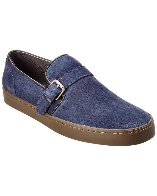 b1fe6ee7935 John Varvatos - Blue John Varvatos Suede Slip-on Loafer for Men - Lyst ...