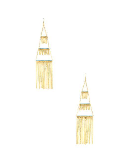 Noir Jewelry - Metallic Tiered Chandelier Statement Earrings - Lyst