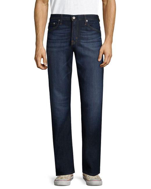 AG Jeans - Blue Straight Leg Jeans for Men - Lyst